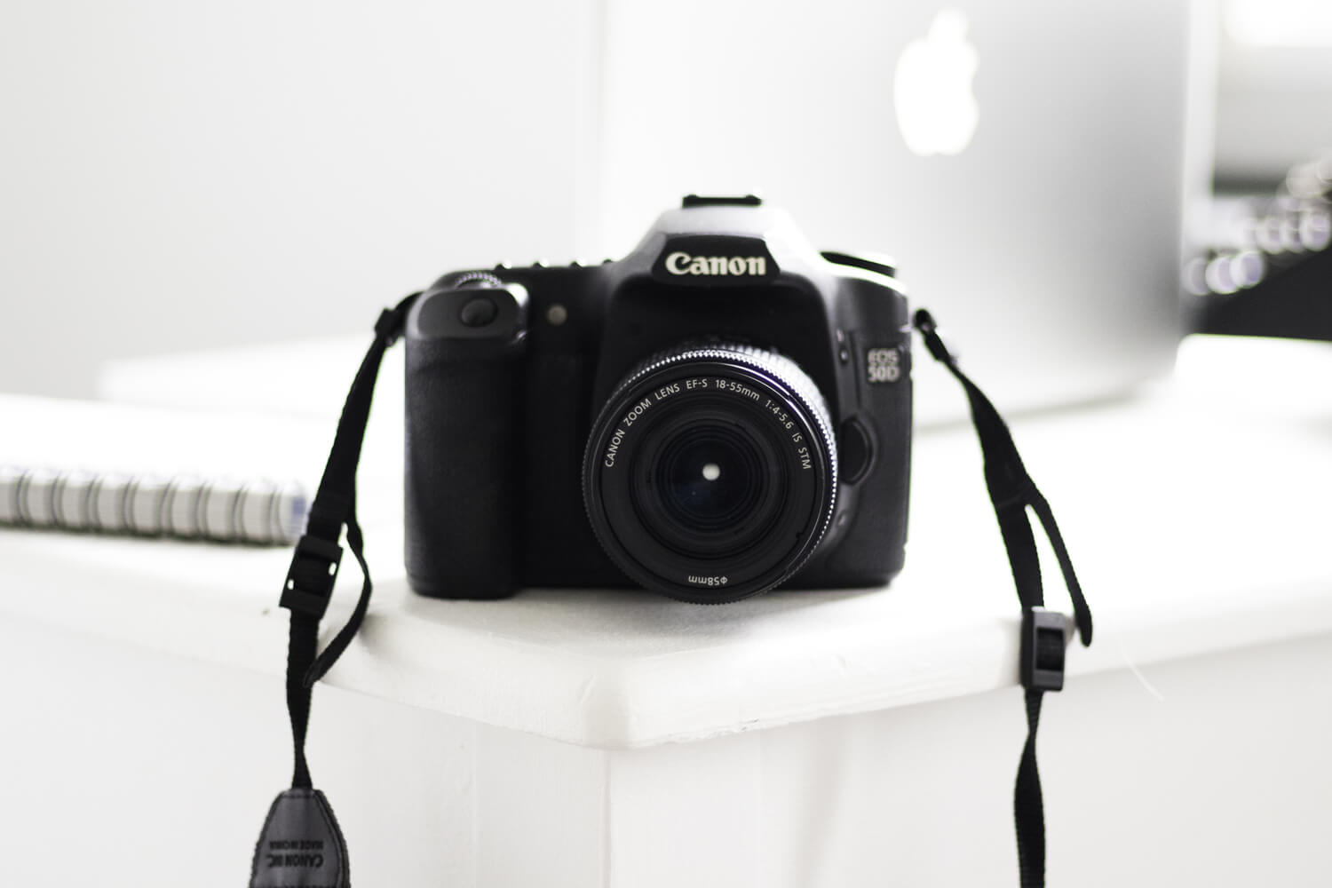 A Canon 60D camera on a desk